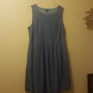 Apt 9 sleeveless dress 1x periwinkle